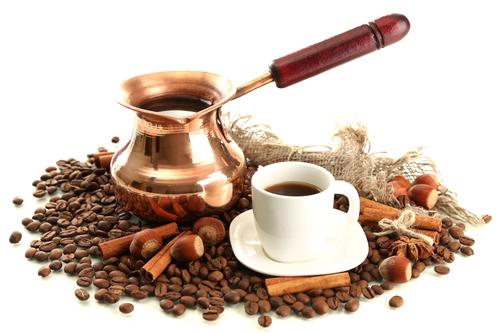 Металлическая джезва для варки кофе