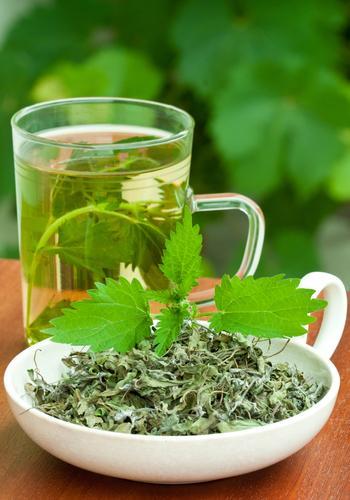 Чай из крапивы с листьями