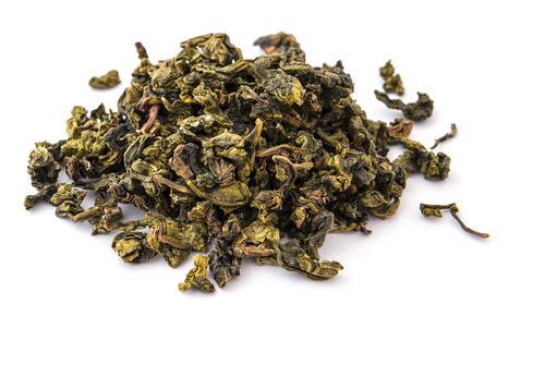 Сухие листья зеленого чая улун