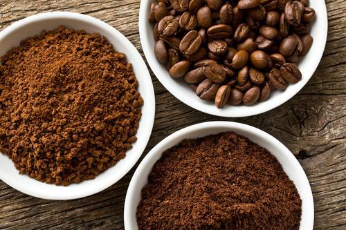 Натуральный кофе в зернах, молотый и растворимый