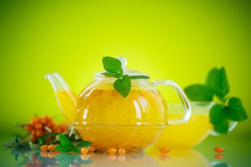 облепиховый чай из свежих ягод