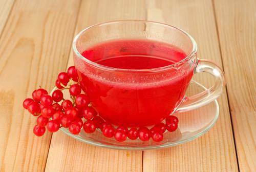 Чай из свежих ягод калины