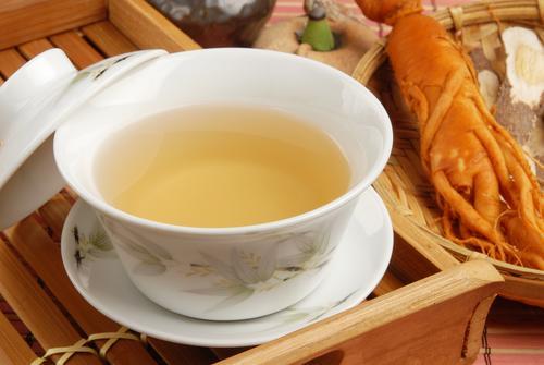 Чай с корнем женьшеня