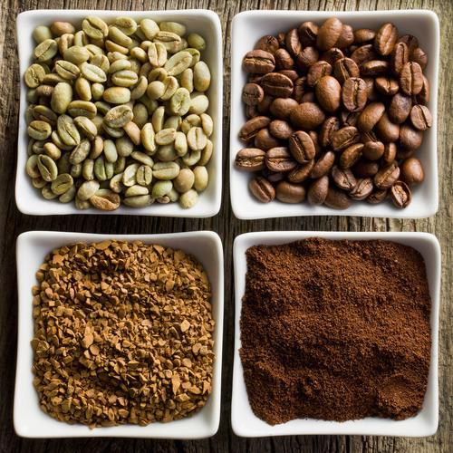 Кофе в зернах, молотый и растворимый