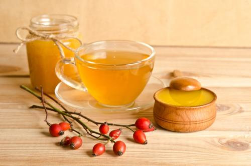 Чай из плодов боярышника с медом