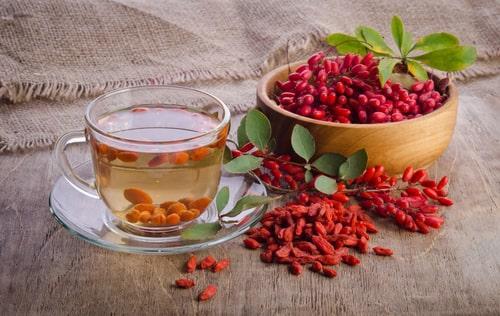 Чай с ягодами барбариса