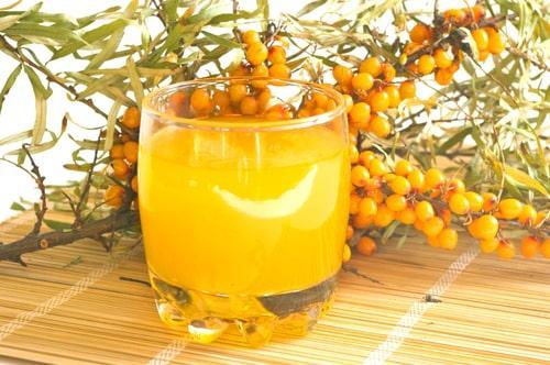 Сок из ягод облепихи для морса